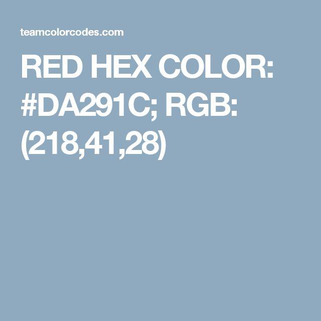 red hex color da291c rgb 2184128