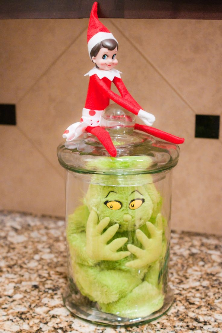 """As soon as Sprinkles got free from Mr. Grinch's ties she was eager to put him in """"time out""""! The girlsSQUEALEDthe moment they found Sprin..."""