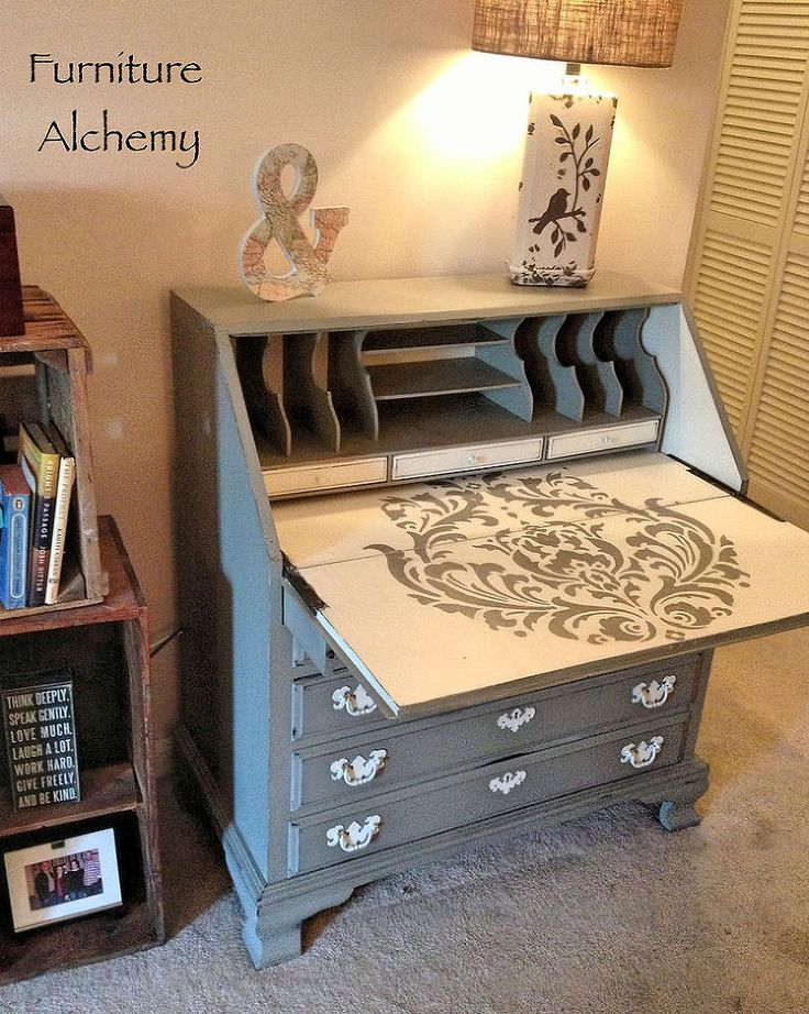 HOME DECOR – FURNITURE – SECRETARY DESK – Hometalk : Chic Secretary Desk Makeover