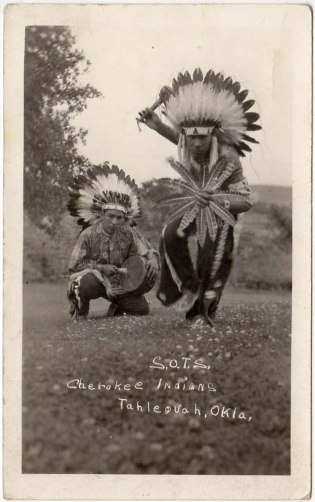 Oklahoma Cherokee Indian    Real Photo Postcard S.O.T.S. Cherokee Indians in Tahlequah, Oklahoma