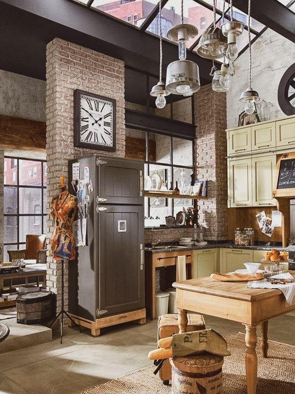 Ideias Para Decorar No Estilo Industrial Vintage A Casa Delas Projeto Da Cozinha Industrial Design De Interiores Industrial Interiores Industriais