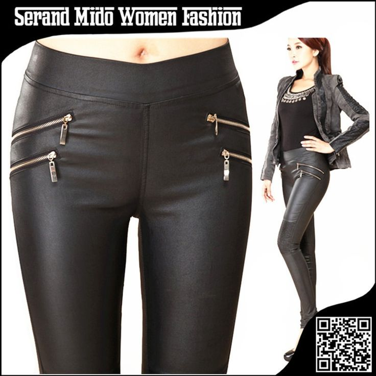 Casual women leather pants Mid elastic waist skinny pencil pants women's clothing. Gender: WomenFit Type: SkinnyBrand Name: leather pantsWaist Type: MidFabric Type: WovenLength: Full LengthClosure Type: Elastic WaistDecoration: Pockets,Fake Zippers,PatchworkPant Style: Pencil PantsPattern Type: SolidFront Style: FlatStyle: CasualMaterial: Cotton,Spandex,Faux LeatherModel Number: SMP012pantalones mujer: pantalones mujercalca feminina: calca femininaleather pants: leather pantswomen pants…