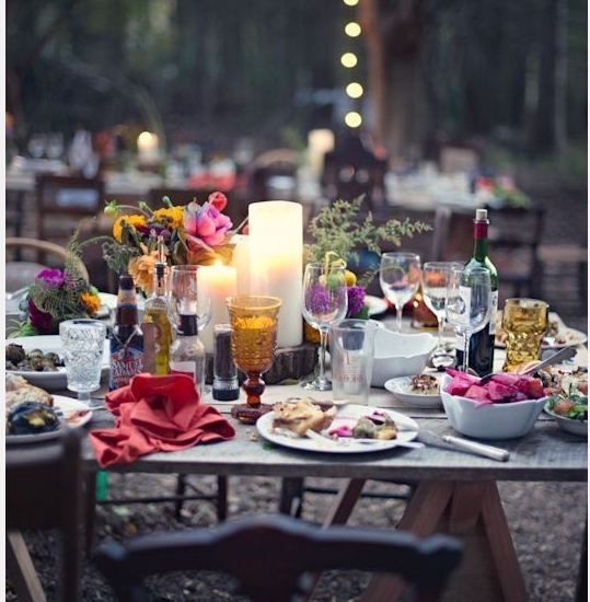 about dinner party ideas on pinterest backyards dinner party table