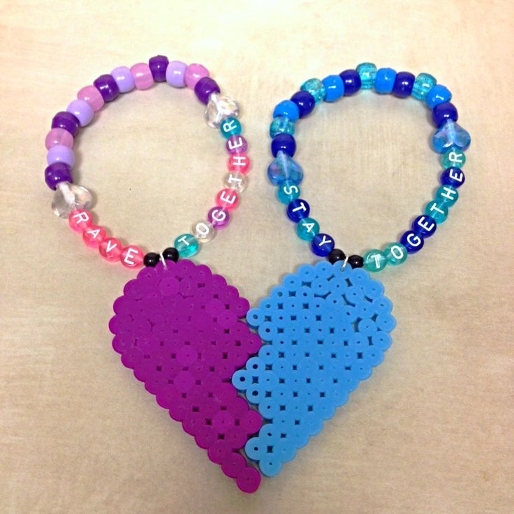 Couples that rave together, stay together.  Why not show your love with these matching kandi bracelets?  Available at PlurfectFashions on Etsy