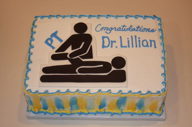 Graduation Cake For A Dr Of Physical Therapy