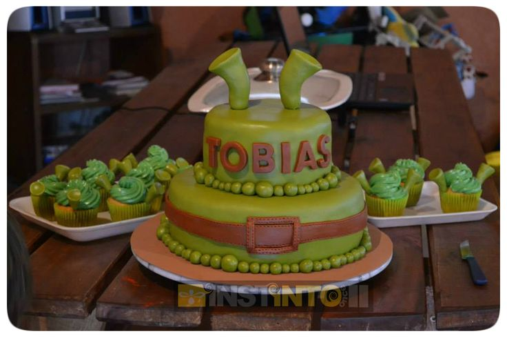 Torta de cumpleaños Shrek 2