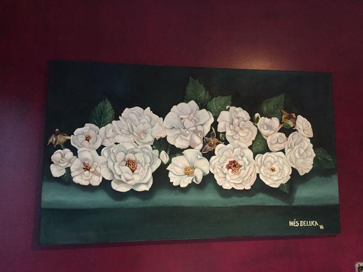 Óleo flores  Ines Etcheberry