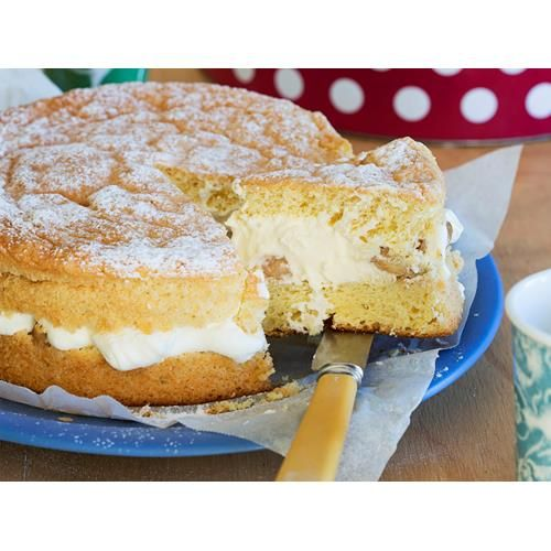 Mum's ginger sponge with feijoa cream filling recipe - By New Zealand Woman's Weekly, There's just something about a sponge cake that fills you with delight! Nici Wickes' mum made them often when she was growing up, with fillings of strawberries, passionfruit, peaches or whatever fruit was in season and always with plenty of whipped cream. In this recipe, she spikes the sponge cake and cream with a hit of ginger.