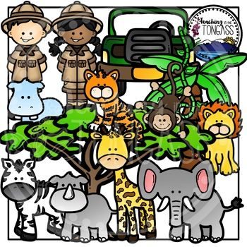 Zoo And Jungle Clip Art This 37 Piece Clipart Bundle Features A Variety Of Jungle And Grassland Wild Zoo Animal Zoo Animals Clipart Zoo Animals Animal Clipart