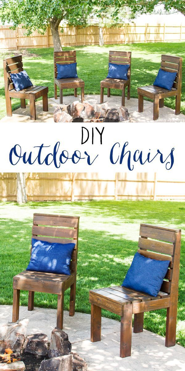 diy crafts easy to build outdoor chairs a full tutorial with rh pinterest com