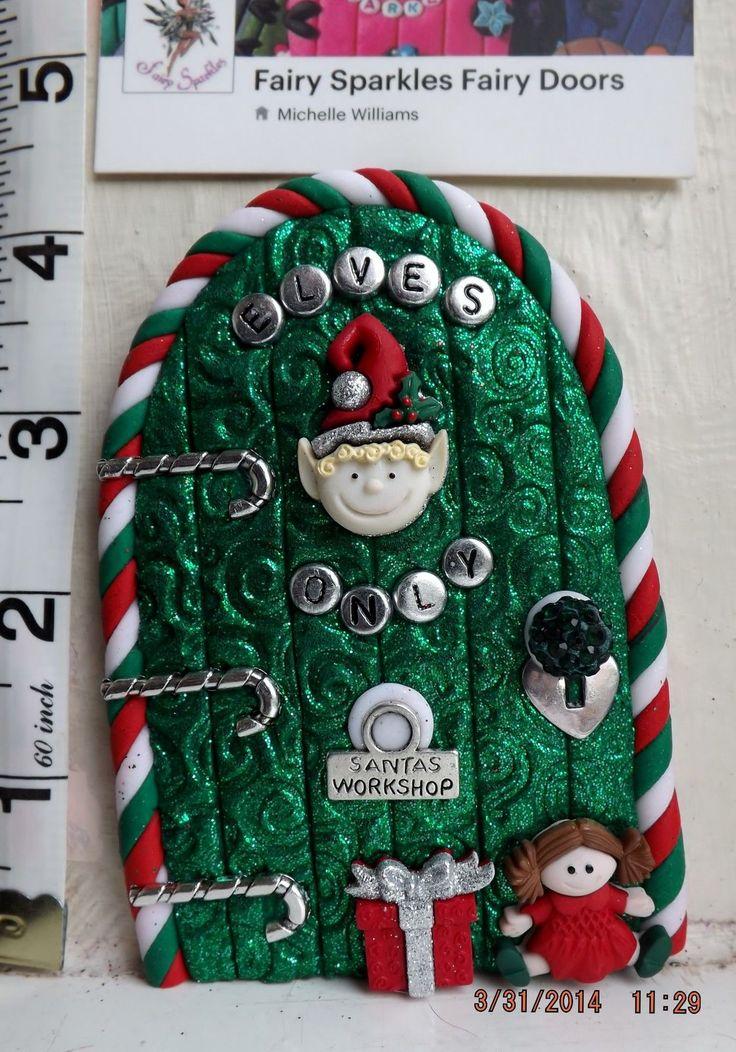 Elf on the Shelf OOAK Christmas Fairy Door from Fairy Sparkles CD214 | eBay