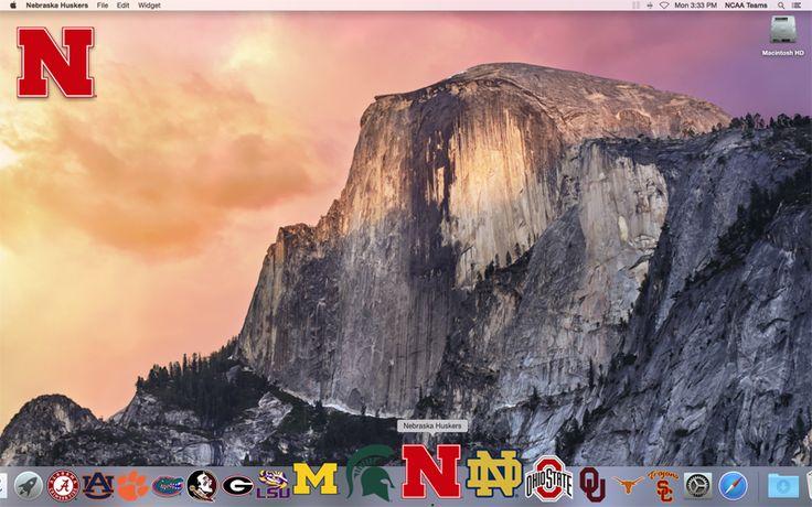 FRONT of the 2016 Nebraska Huskers Schedule Mac App on your desktop  http://2thumbzmac.com/teamPages/Nebraska_Huskers.htm