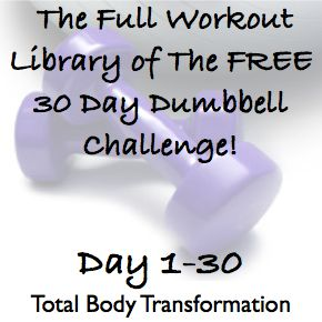 The Full Workout Library of The FREE 30 Day Dumbbell Challenge! - Whole Lifestyle Nutrition | Organic Recipes | Holistic Recipes