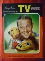 August 26 TV WEEK guide 1961 CHICAGO TRIBUNE Disney Ludwig Von Drake KUKLA OLLIE