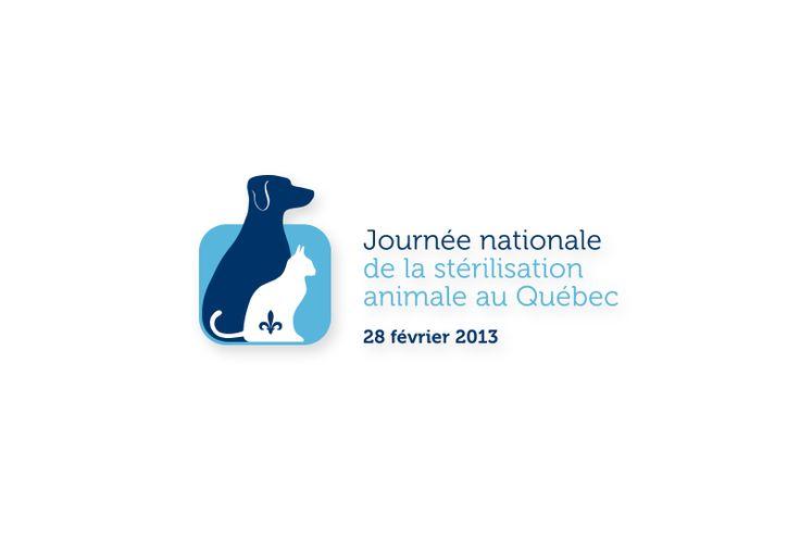 Conception d'un logo / Client - Journée nationale de la stérilisation animale du Québec / Graphiste pigiste pour - Créations Cité Graphique