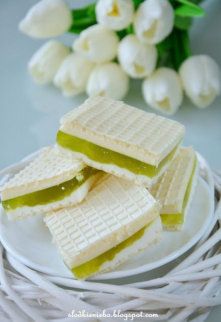 Słodkie niebo: Jogurtowe wafle z galaretką