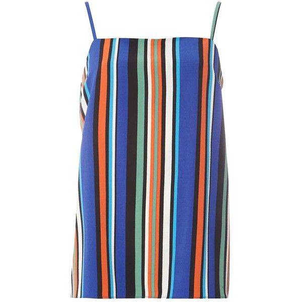 Dorothy Perkins **Tall Multi Colour Stripe Camisole Top ($35) ❤ liked on Polyvore featuring tops, multi color, dorothy perkins, polyester camisole, summer tops, multi color tops and striped cami