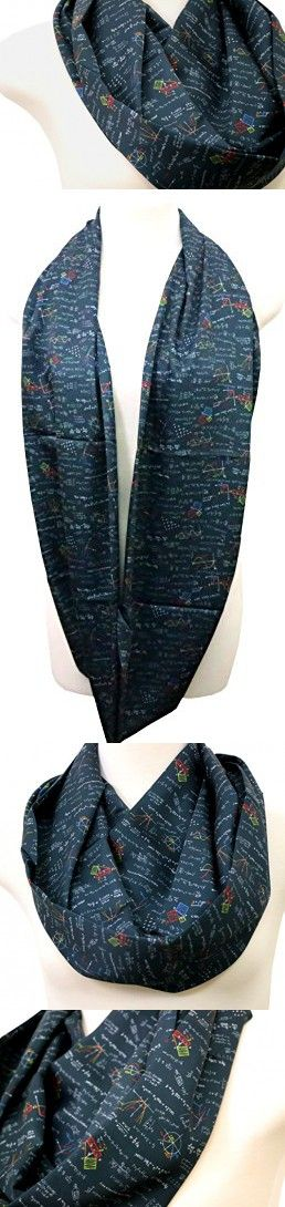 40% OFF Handmade Mathematics Infinity Scarf By Di Capanni (black with color)