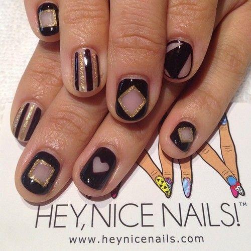 Negative Space Mix  Match Nails #prestogel #nailart...
