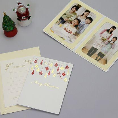 [画像] メッセージカードを贈ろう! クリスマス柄の写真台紙 - 女子カメ Watch