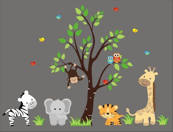 Safari Giant 5/' x 6/' Wall Mural Safari Jungle Zoo Birthday Party