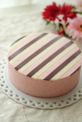「3色ストライプのいちごムース」setsuko♪ | お菓子・パンのレシピや作り方【corecle*コレクル】