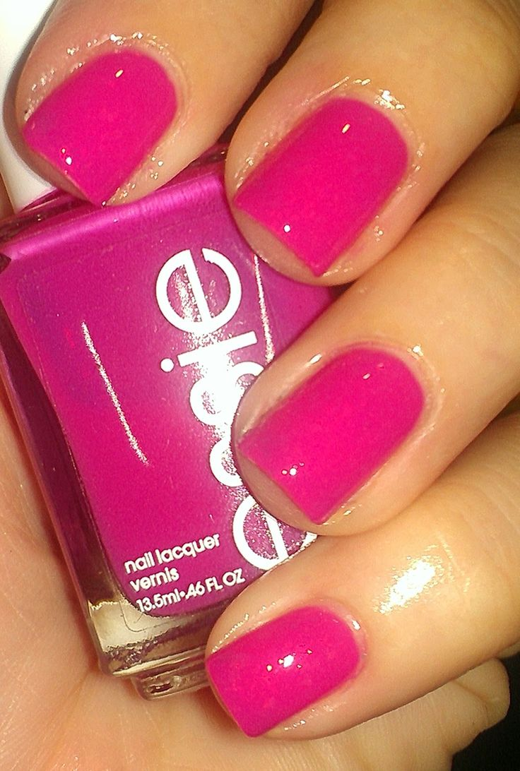 Essie Secret Story. A hot pink jelly nail polish.