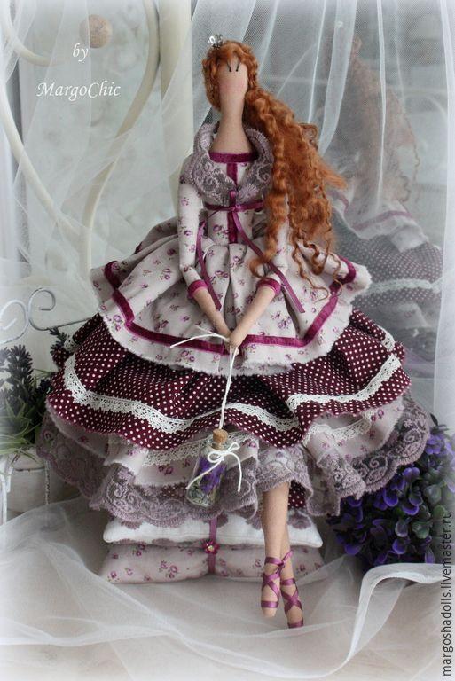Купить Лавандовая принцесса на горошине Николь - сиреневый, лавандовый, кукла ручной работы, кукла в подарок