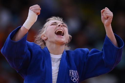 Judo- Automne Pavia, médaillée de bronze des -57 kg