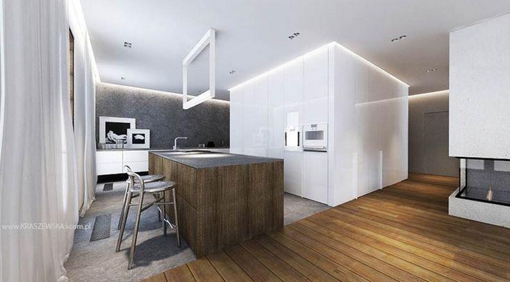 White Kitchen Cabinets Island