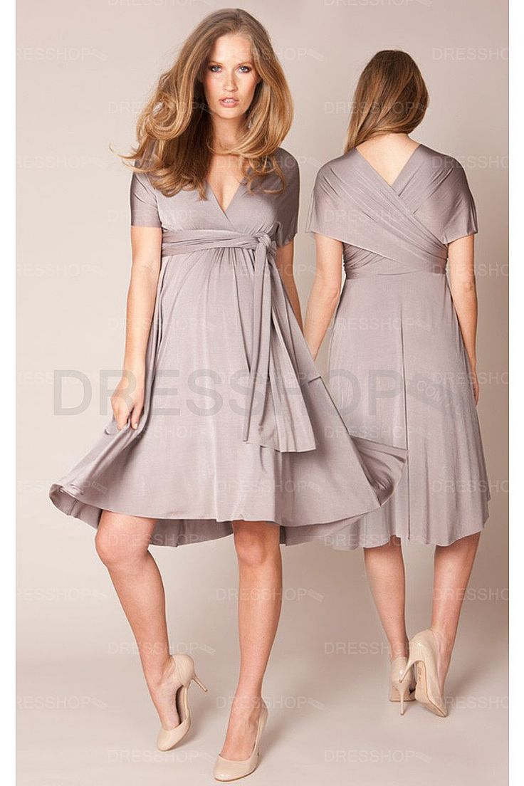22 best pregnancy style images on pinterest pregnancy style elegant midi short sleeves a line deep v neck bridesmaid dresses formal ombrellifo Image collections