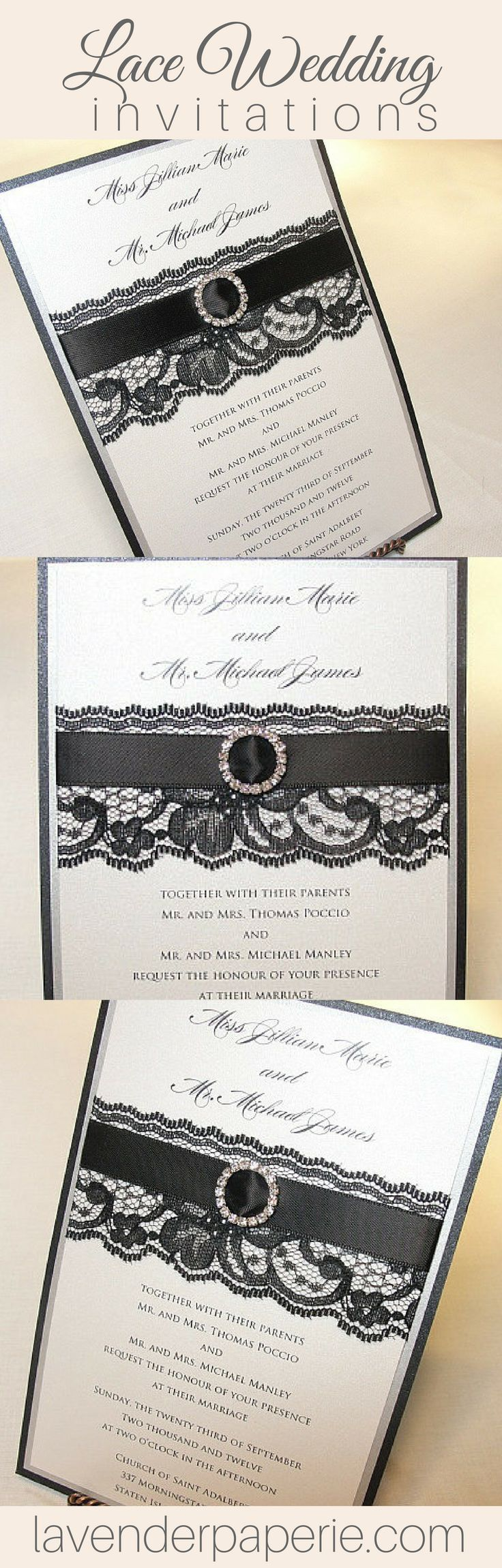 wedding invitations gifts%0A Justine  thin ribbon  Wedding Invites