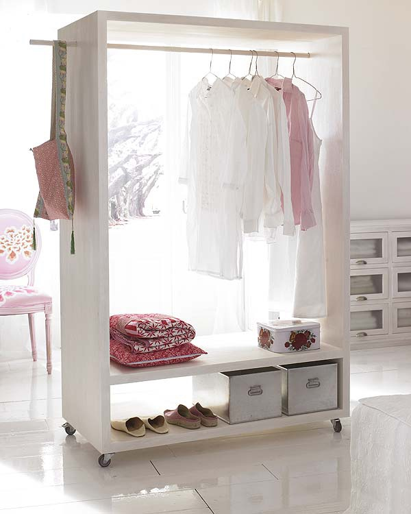 open closet - wheels allow you to move it around