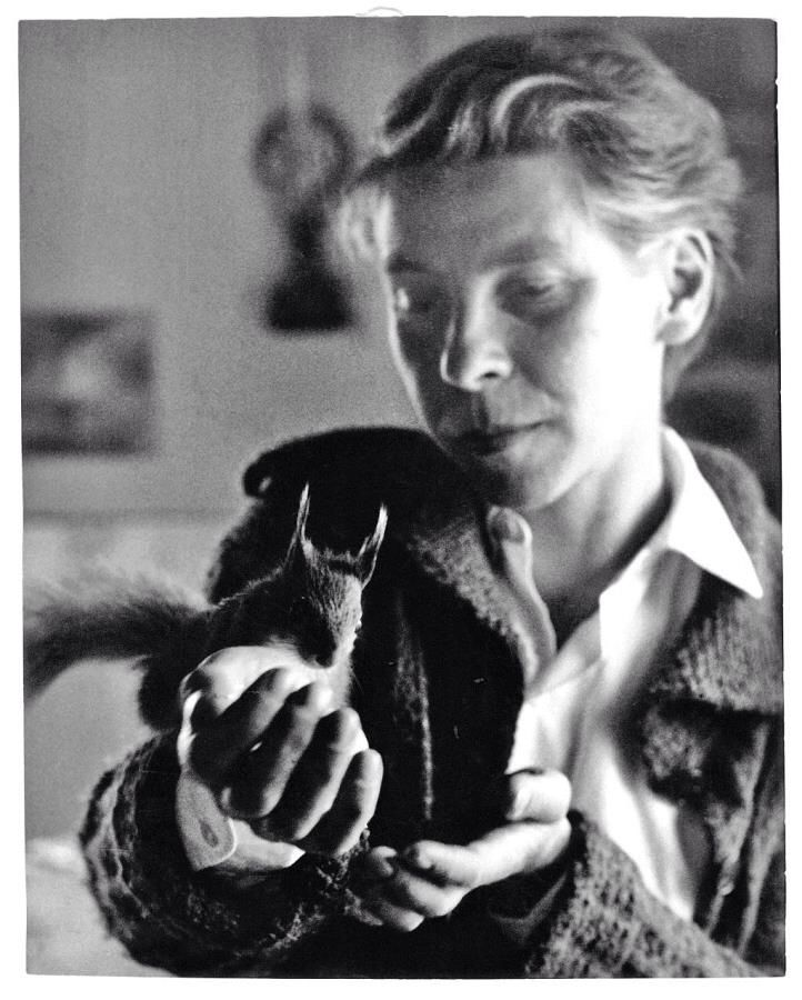 Tove Jansson and the Squirrel with the marvellous tail.