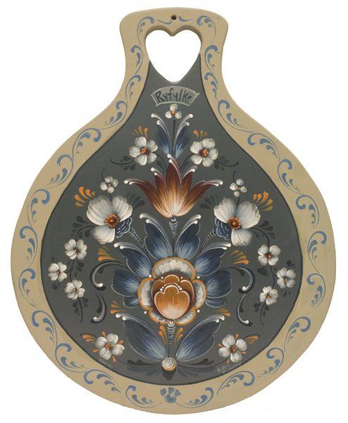 SOLD Ryfylke Rosemaling Lefsa Board-SOLD - Jansen Art Store