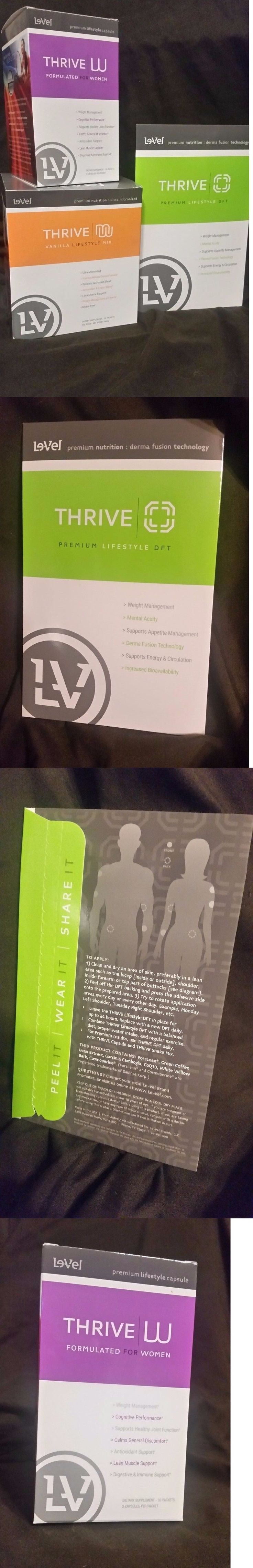 Fat Burners: Le-Vel Thrive Women Pack - Vitamins, Dft Patches And Vanilla Shakes By Level BUY IT NOW ONLY: $129.93