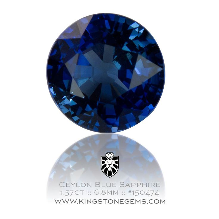 Ceylon Royal Blue Sapphire 1.57ct - 6.8X6.8X4.18mm - SKU# 150474 - Visit our website to see our amazing collection of stunning blue sapphires.