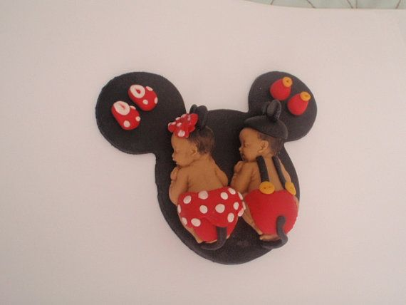 Fondant Edible Baby Minnie or mickey mouse Cake Topper ...