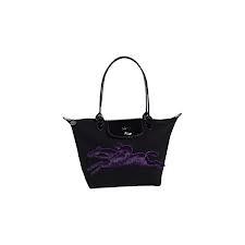 Longchamp victoire black purple limited edition