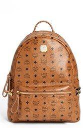 MCM 'Medium Stark - Visetos' Studded Backpack