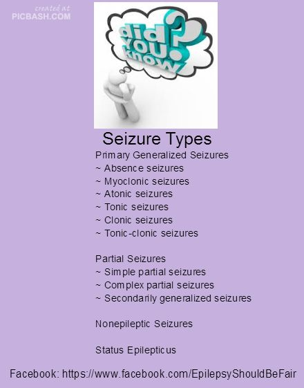 I experience 2 types of seizures. With my myoclonic seizures I twitch-sometimes flail- and with my absence seizures I stare or stutter or can't remember what I am talking about.