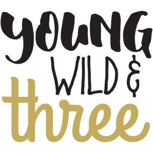 Silhouette Design Store: baby t-shirt: young wild and three