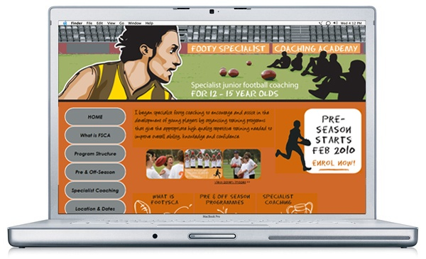 WEBSITE DESIGN for specialist footy coach Ange Lekkas. Ange played #AFL for #Hawthorn at a senior level for 12 yrs (1994-2005).