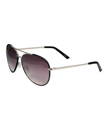 Loving this Black Wrapped Aviator Sunglasses on #zulily! #zulilyfinds