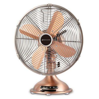 Transformez l'air statique chaud en brise rafraîchissante avec ce ventilateur de table Bionaire de 12 pouces. Construction en métal d'une grande durabilité.