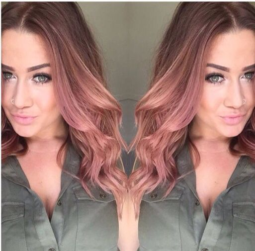 Stunning Rose Gold Hair Ideas Hair Pinterest Rose Gold Hair Gold Hair And Rose