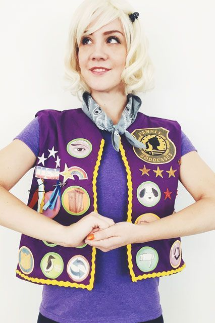 Here's A Whole Bunch Of Halloween Costumes To Help Inspire Yours #refinery29  http://www.refinery29.com/costume-ideas#slide-6  Leslie Knope, Pawnee GoddessParks & Recreation may be over, but the Pawnee Goddesses live on....