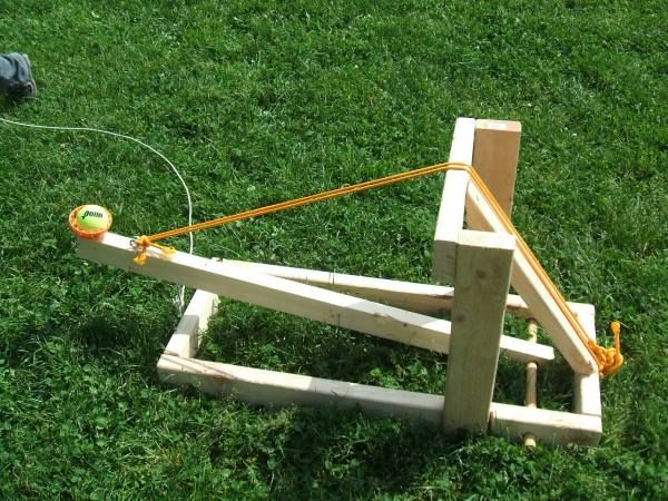 Save your shoulders and use a catapult to launch tennis balls across the park. Everyone (not just the dogs) will have fun playing with this one!