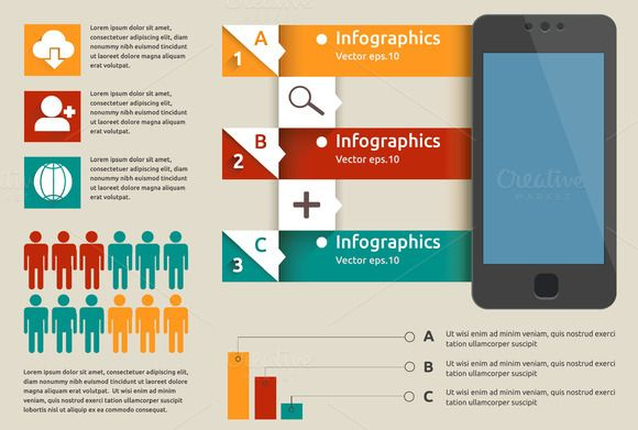 Check out Mobile labels infographic by dana.costin on Creative Market