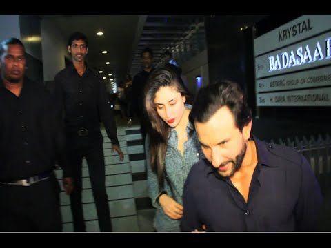 Kareena Kapoor and Saif Ali Khan spotted at Royalty night club in Mumbai.